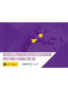 Portada Análisis de la producción científica en colaboración entre España y Alemania. 2005-2014