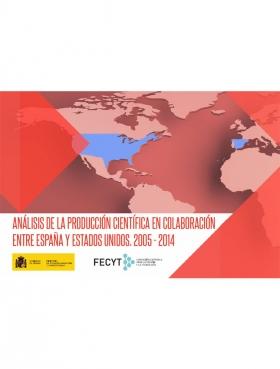 Portada Producción científica de la colaboración entre Estados Unidos y España