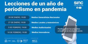 La agencia SINC organiza el ciclo de debates online 'Lecciones de un año de periodismo en pandemia'