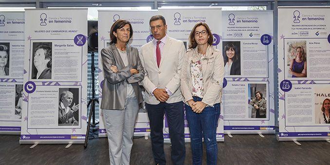 """La UC3M y FECYT inauguran la exposición """"Mujeres que cambiaron el mundo"""""""